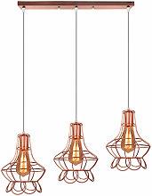 Lampara Colgante Combinación 3 Luces de Florero