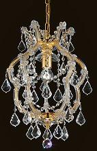 Lámpara colgante de cristal brillante Deira