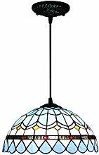 Lámpara colgante de cristal tipo Tiffany, estilo