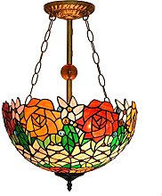 Lámpara colgante de estilo Tiffany para isla de