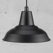 Lámpara colgante de metal Lyne, negro