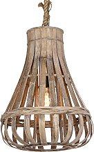 Lámpara colgante de salón, rústica, madera ,