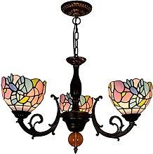 Lámpara colgante de techo estilo Tiffany,