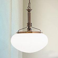 Lámpara colgante Delia en latón envejecido, 1 luz