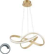 Lámpara colgante diseño dorado LED 60cm - BELINDA