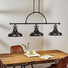 Lámpara colgante Emery, bronce, industrial 3 luces