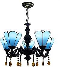 Lámpara colgante estilo Tiffany,lámpara de