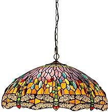 Lámpara colgante estilo Tiffany para isla de