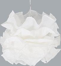 Lámpara colgante Fiona, pantalla volantes plisados