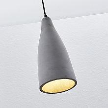 Lámpara colgante hormigón Sanne, estilo