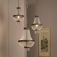 Lámpara colgante Impero con cortina de cristal