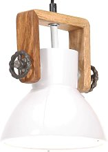 Lámpara colgante industrial 25 W blanca redonda