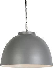 Lámpara colgante industrial 60cm gris/blanco -