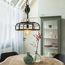 Lámpara colgante industrial acero negro - CAMELOT