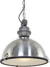 Lámpara colgante industrial aluminio acero -
