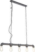Lámpara colgante industrial antracita - PLUMBER 5