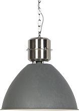 Lámpara colgante industrial color-hormigón -