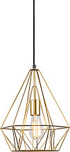 Lámpara colgante industrial dorada - CARCASS