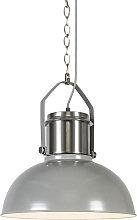 Lámpara colgante industrial gris - INDUSTRIAL 37