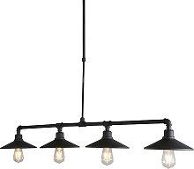 Lámpara colgante industrial negra - 4 LASER