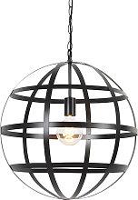 Lámpara colgante industrial negra - BOULA