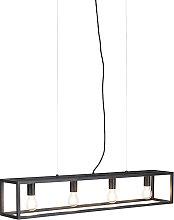 Lámpara colgante industrial negra - CAGE 4