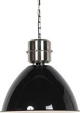 Lámpara colgante industrial negra - FLYNN