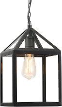 Lámpara colgante industrial negra IP23 - AMSTERDAM