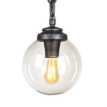 Lámpara colgante industrial negra IP55 - SICHEM