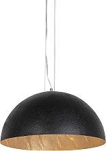 Lámpara colgante industrial negra/oro 50cm - MAGNA