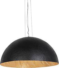 Lámpara colgante industrial negra/oro 70cm - MAGNA