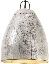Lámpara colgante industrial redonda 25 W plateada