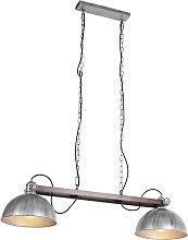 Lámpara colgante industrial zinc - HATHI