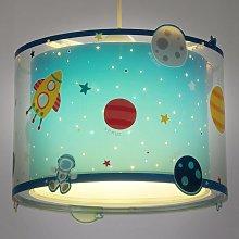 Lámpara colgante infantil Planets con imagen