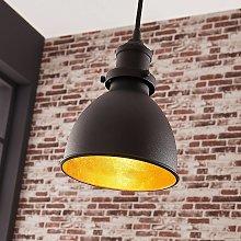 Lámpara colgante Jasminka negra, estilo industrial