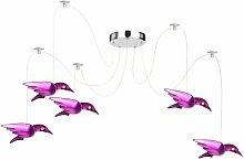 Lámpara colgante LED diseño de pájaro lámpara