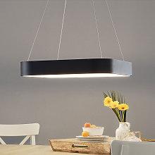 Lámpara colgante LED Grand 60x60cm, negro