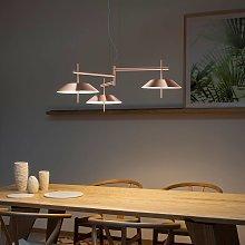 Lámpara colgante LED Mayfair color cobre, 3 brazos