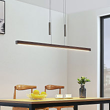 Lámpara colgante LED Tamlin madera, marrón oscuro