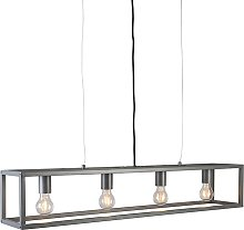 Lámpara colgante moderna antracita - CAGE 4