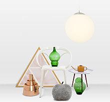 Lámpara colgante moderna cristal 40cm - BALL