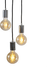 Lámpara colgante moderna cromada - FACIL 3