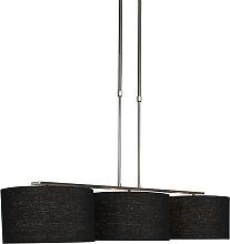 Lámpara colgante moderna de acero con pantalla de