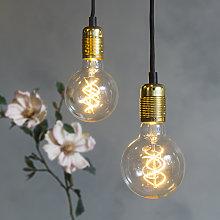 Lámpara colgante moderna dorada - CAVA 2