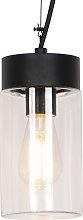 Lámpara colgante moderna negra IP44 - JARRA