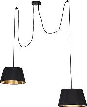 Lámpara colgante moderna negra - LOFTY