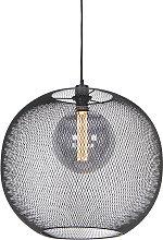 Lámpara colgante moderna negra - MESH Ball