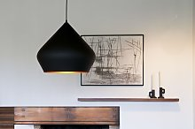 Lámpara colgante negra Liselotte
