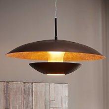 Lámpara colgante Nuvano marrón dorado