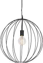 Lámpara colgante redonda de diseño negro 50 cm -